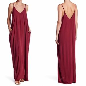 LOVE STITCH HAREM GAUZE MAXI DRESS M/L
